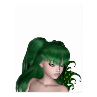 St. Patrick's Day Sprite 1 - Green Fairy Post Card