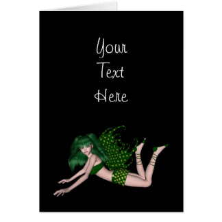 St. Patrick's Day Sprite 2 - Green Fairy Greeting Card