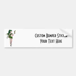 St. Patrick's Day Sprite 3 - Green Fairy Bumper Sticker