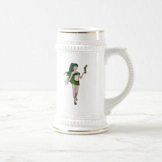 St. Patrick's Day Sprite 3 - Green Fairy Coffee Mugs