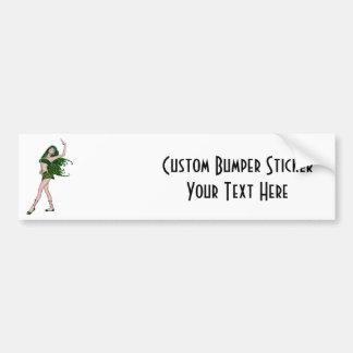 St. Patrick's Day Sprite 4 - Green Fairy Bumper Sticker