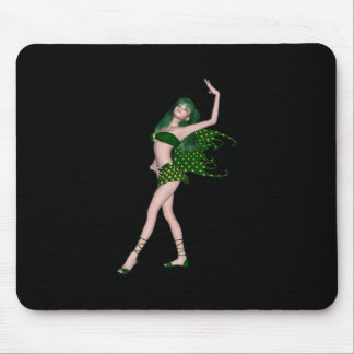 St. Patrick's Day Sprite 4 - Green Fairy Mouse Pad