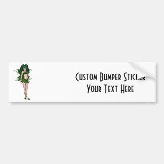 St. Patrick's Day Sprite 5 - Green Fairy Bumper Sticker