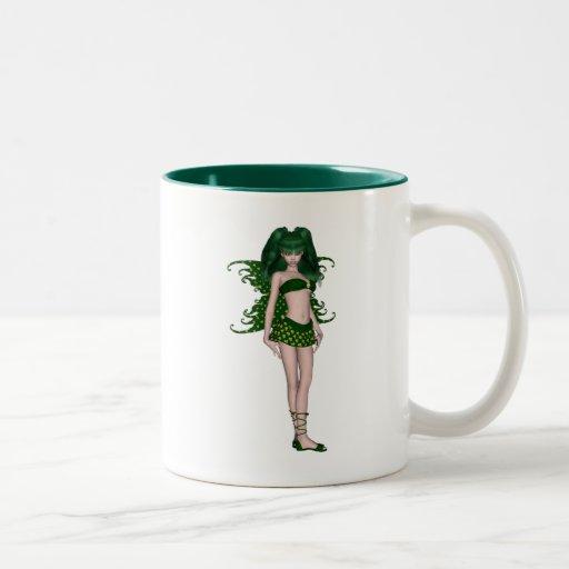 St. Patrick's Day Sprite 5 - Green Fairy Coffee Mugs