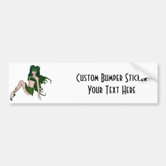 St. Patrick's Day Sprite 6 - Green Fairy Car Bumper Sticker