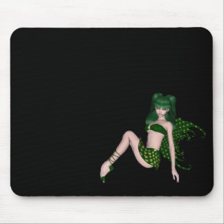 St. Patrick's Day Sprite 6 - Green Fairy Mouse Pads