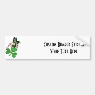 St. Patrick's Day Sprite 7 - Green Fairy Bumper Sticker