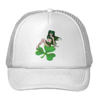 St. Patrick's Day Sprite 7 - Green Fairy Mesh Hat