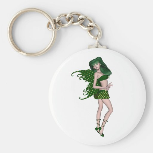 St. Patrick's Day Sprite 8 - Green Fairy Keychains