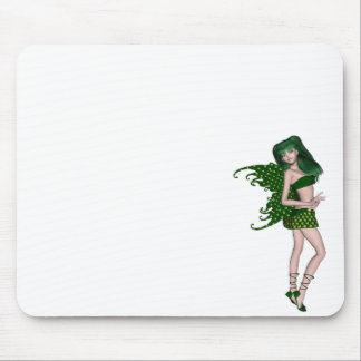 St. Patrick's Day Sprite 8 - Green Fairy Mousepads