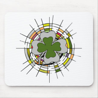 st. patrick's day, stained glass mouse pad