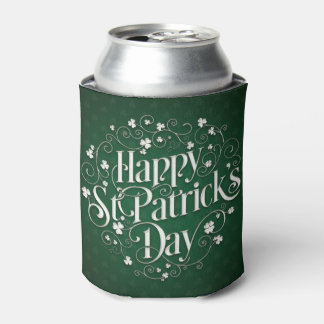St. Patrick's Day - Swirled Word Art Can Cooler