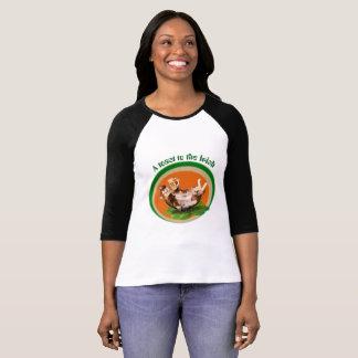 St, Patrick's day T-Shirt with beer trinking cat