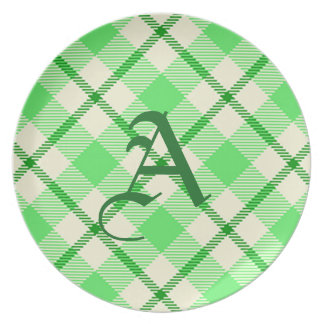 St. Patrick's Day Tartan Plaid Green Party Plates