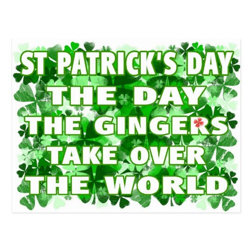 St Patricks Day-The Day The Gingers Take Over The Postcard