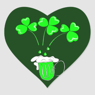 St. Patrick's Day The secret of brewing Heart Sticker