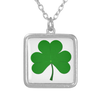 St Patrick's Day Themed 3 Leaf Clover Silver Plated Necklace