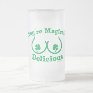 St. Patrick's Day | They're Magically Delicious Frosted Glass Beer Mug