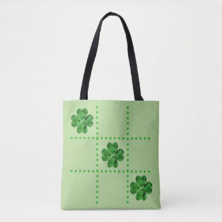 St. Patrick's Day Tic-Tac-Toe Shamrocks Tote Bag