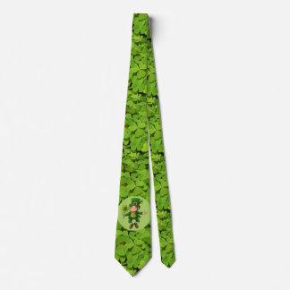 St Patrick's Day Tie Leprechaun Shamrock Green