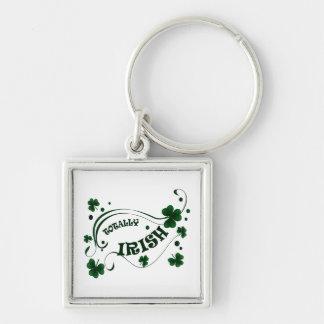 St. Patricks Day Totally Irish Premium Keychain