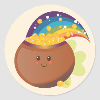 St. Patrick's Day Treasure Round Sticker