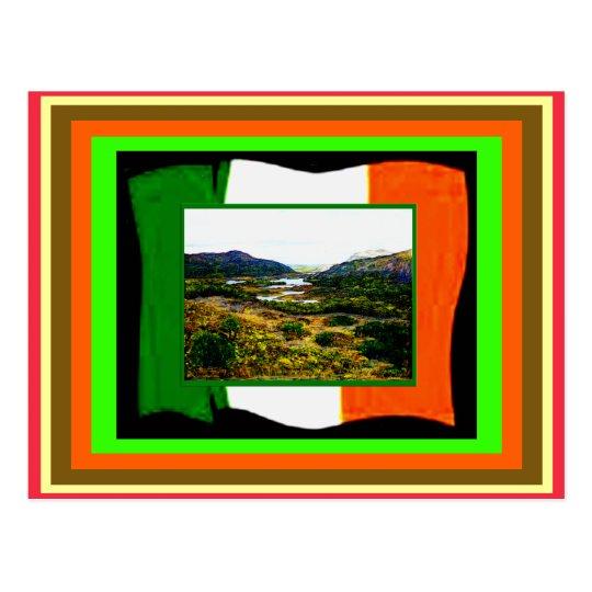 St Patrick's Day UCreate Flag & Ireland jGibney Postcard