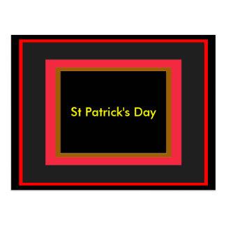 St Patrick's Day UCreate Templates Postcard