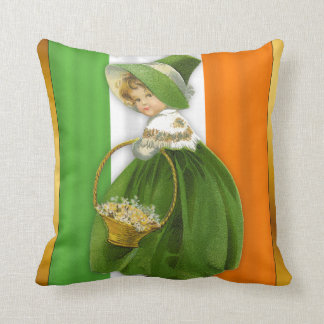St. Patrick's Day Vintage Girl Cushion