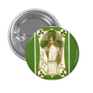 St Patricks Day vintage religious button