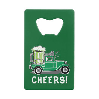 St Patrick's Day Vintage Truck Green Beer