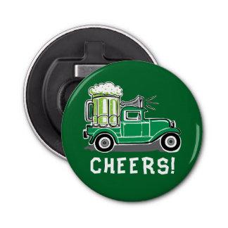 St Patrick's Day Vintage Truck Green Beer Bottle Opener