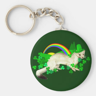 St. Patrick's Day Weasel Keychains