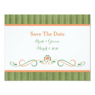 St. Patrick's Day Wedding Save The Date Card 11 Cm X 14 Cm Invitation Card