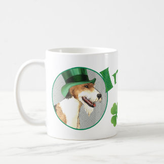 St. Patrick's Day Wire Fox Terrier Coffee Mug