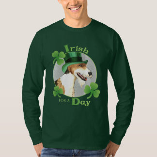St. Patrick's Day Wire Fox Terrier T-Shirt