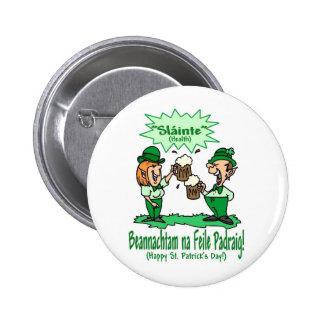 St Patricks Day Wish BEANNACHTAM NA FEILE PADEAIG Button