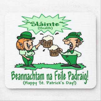 St Patricks Day Wish BEANNACHTAM NA FEILE PADEAIG Mousepad