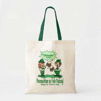 St Patricks Day Wish BEANNACHTAM NA FEILE PADEAIG Tote Bags