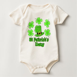 St Patricks Day with Hat Baby Bodysuit