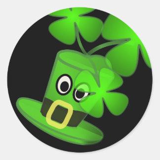 St Patricks Day with Hat Round Sticker