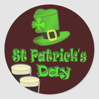 St Patricks Day with Hat Stickers