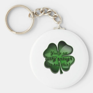 St. Patrick's Day Zing, not lucky enough black Basic Round Button Key Ring