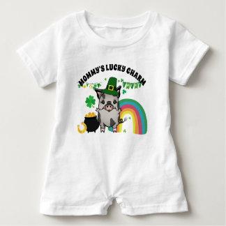 St. Patrick's Day Ziva Pig Baby Bodysuit