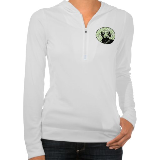 St Patricks Doxie Silhouette - Winston Hooded Pullover
