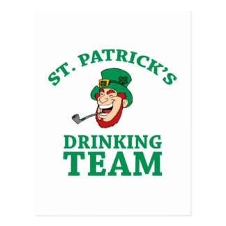 St. Patrick's Drinking Team Postcard