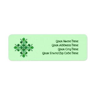 St. Patrick's Fleur de lis Return Address Label