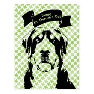 St Patricks Greater Swiss Mountain Dog Silhouette Postcard