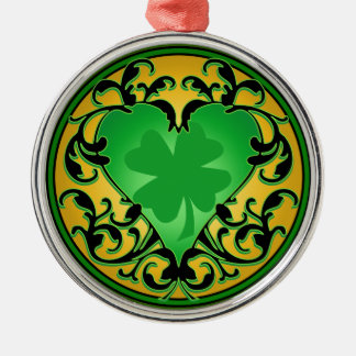 St. Patrick's Heart Christmas Ornaments
