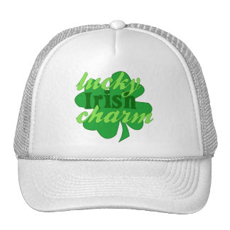 St. Patrick's Heart Lucky Charm Mesh Hats